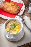 Buckwheat soup. photo