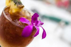 Mai Tai With Pineapple and Orchid photo