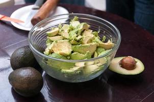 Preparing guacamole photo