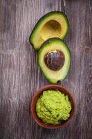 Guacamole with avocado photo