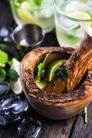 Refreshing traditional cuban mojito