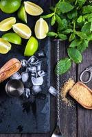 ingredientes para o mojito de verão