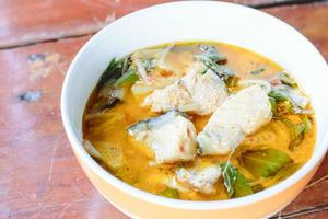 Red curry with fish photo