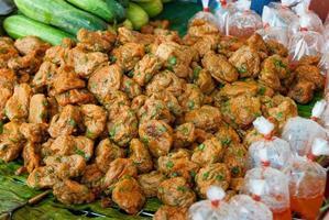 fried fish patty photo