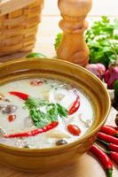 Thai style coconut milk soup with chicken