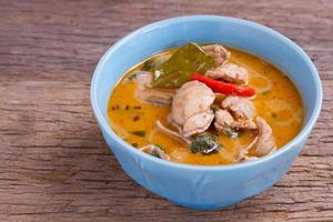 Panang curry with chicken traditional Thai style food