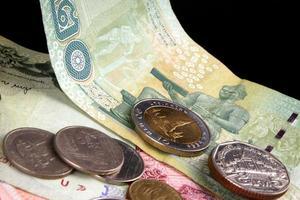 moneda tailandesa foto