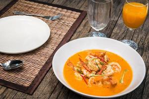Thai Panang Curry with shrimp