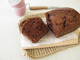 pastel de chocolate casero foto