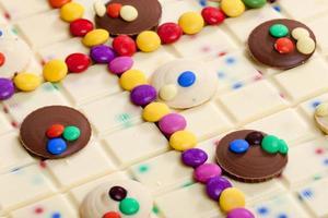 cioccolato bianco con smarties