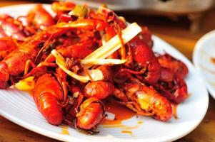 cooked  crayfish photo