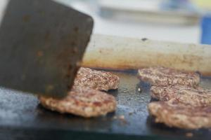 cooking cutlet BBQ photo