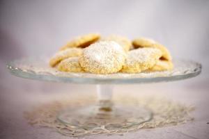 galletas de coco y limón foto