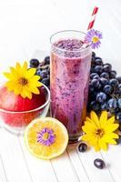 Purple smoothie photo