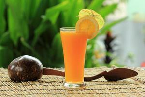 Glass of of orange juice photo