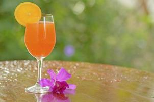 jugo de naranja fresco foto