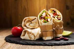 Burritos wraps with chicken