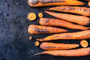 zanahorias al horno foto