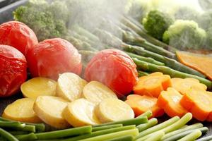Vegetables, baked photo