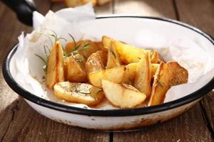 Baked potatoes photo