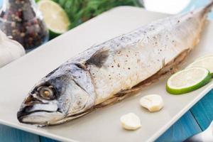 Baked mackerel