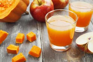 Juice of apples and pumpkins photo
