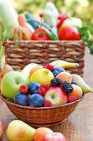 Fresh organic fruits and vegetables photo