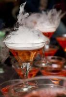 Pyramid of smoking molecular cocktails photo