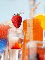 collection of fruit cocktails