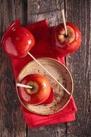 manzana de caramelo foto