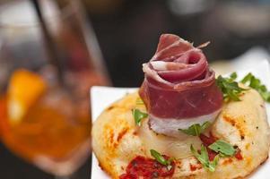 Prosciutto aperitivo in Italy