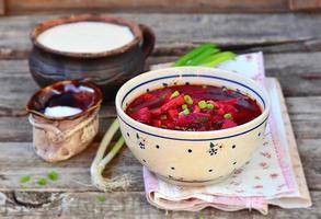 beet fish soup