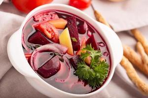 Russian traditional borsch