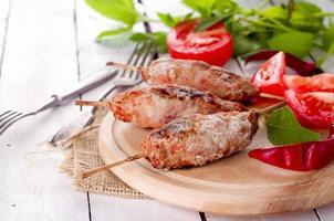 kebab de cordero picado