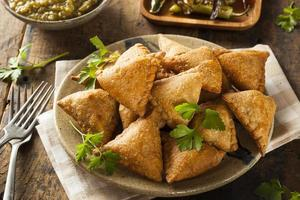 Homemade Fried Indian Samosas