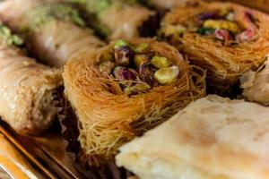 postre dulce árabe deleita con pistacho foto