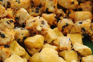 taro frito y tofu
