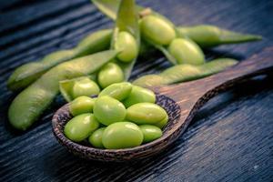 frijoles de soya verde foto