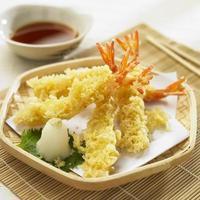 tempura de camarones foto