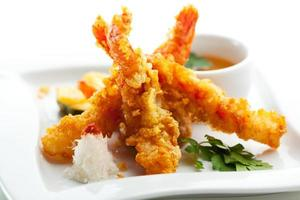 camarones tempura foto