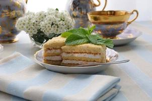 Sponge cake with a delicate souffle