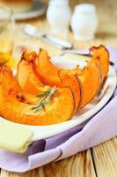 wedges of baked pumpkin photo