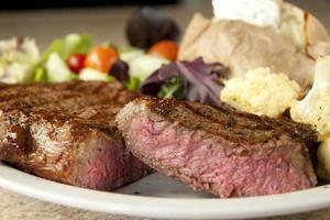 Rib eye steak with sides