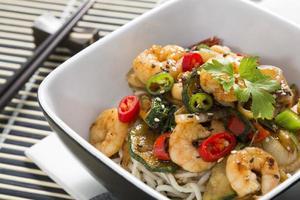 Prawn and vegetable stir-fry