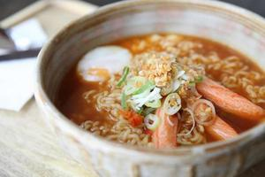 Spicy Noodle with egg photo