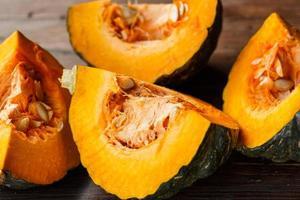 Pumpkin slices photo