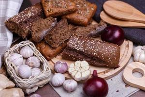different bread photo