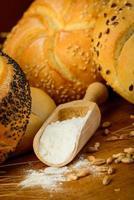ingredientes de pan foto