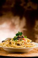 Pasta with Olives and Parsley photo