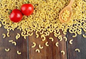 Raw Chifferi pasta background photo